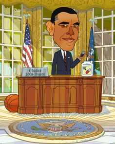 Students can learn about different Presidents by finding the interactive elements of the Oval Office that gives details about his life and Presidency.