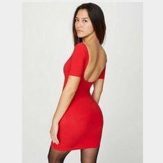 American apparel double u spandex dress Super fun basic with flattering cut! Worn once. American Apparel Dresses Mini