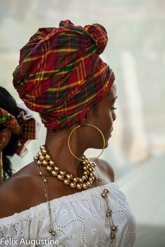 Head Wrap with a Caribbean Flair