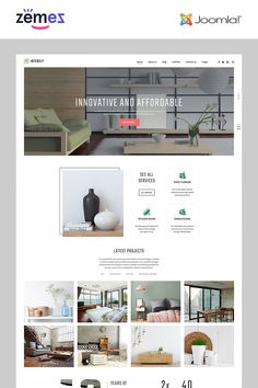Interily - Interior Design E-Commerce Modern Joomla Template Your Design, Modern Design, Joomla Themes, Photography Templates, Joomla Templates, New Opportunities, Design Agency, Studio, Ecommerce