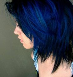 After Midnight Blue Hair