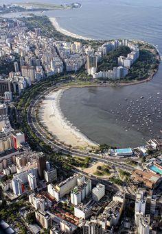 Aerial view of Botafogo Bay and Flamengo Park,Rio de Janeiro,Brazil - by Antonello