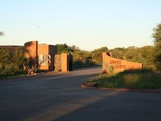 Lower Sabie - Kruger National Park, South Africa - entrance to the people enclosure ! National Parks Usa, Kruger National Park, Visit South Africa, Game Reserve, Entrance Gates, Gate Design, Outdoor Fun, Country Roads, Cardigan Pattern