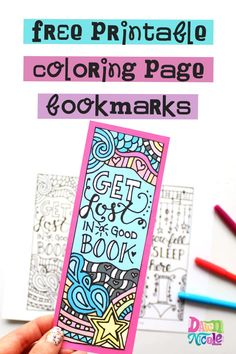 These fun free Printable Coloring Page Bookmarks are a great way to stay busy, get creative, and encourage reading over summer break!