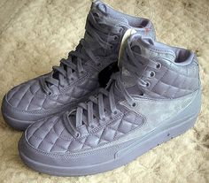"""845cef8e1a0cdc Just Don x Air Jordan 2 """"Grey Quilted"""""""
