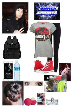 """""""Arriving At Smackdown With Dean"""" by caton-486 ❤ liked on Polyvore featuring James Perse, BERRICLE, Eos, Sherpani and Converse"""