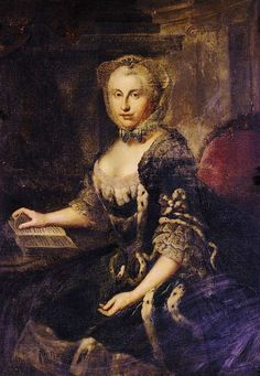 1762/5 Auguste Karoline, Duchess of Brunswick-Lüneburg by Johann Georg Ziesenis