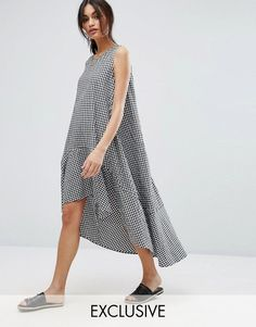 Buy it now. Vero Moda Gingham Oversized A Line Smock Dress - Multi. Dress by Vero Moda, Smooth woven fabric, Round neck, Gingham print, Loosely pleated, Dipped hem, Oversized fit - falls generously over the body, Machine wash, 100% Cotton, Our model wears a UK S/EU S/US XS and is 173cm/ 5'8 tall. ABOUT VERO MODA Danish fashion house, Vero Moda, made their mark on the fashion scene by using top models Kate Moss and Gisele Bundchen in their marketing campaigns. With emphasis on quality…
