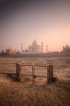 A different view of the Taj Mahal, India /// #palace #travel #wanderlust