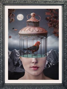I wonder if this caged bird sings. By * * * * cage Pop Art Drawing, Art Drawings, Freedom Artwork, Surealism Art, Surreal Art, Bird Art, Doodle Art, Art Day, Art And Illustration
