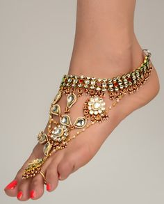 Bling foot jewelry. Bling bling. #accessories #asian