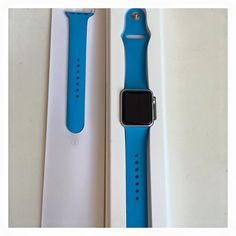BNIB apple watch blue strap. Pm for details and price.  #applewatch#apple#watch#bagmorebags by bagmorebags