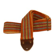 Original Fuzz Rust Stripes Vintage Peruvian Handwoven Guitar Strap
