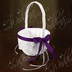Chantilly Lace Flower Girl Basket | Flower Girl Basket | Flowergirl Basket