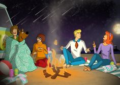 Daphne And Fred, Scooby Doo Mystery Incorporated, New Scooby Doo, Good Movies, Awesome Movies, Beach Camping, Classic Cartoons, Cartoon Shows, Disney Fan Art