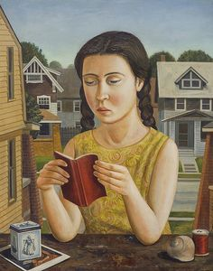 Reading and Books in Art: Painting by Rick Beerhorst