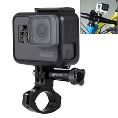 [$2.12] PULUZ Bicycle Aluminum Handlebar Adapter Mount for GoPro HERO5 /4 /3+ /3 /2 /1, Xiaoyi etc. Sport Cameras(Black)