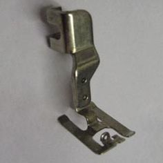 Special Foot for satin stitching, button holing, applique.More Flexible than a regular pressure foot. Hinged Slant Foot