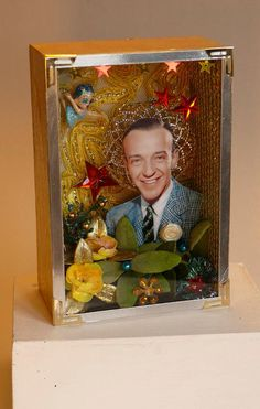 Fred Astaire gold box by Architect/Artist Thodoros Brouskomatis creator of AnimaΤheca.