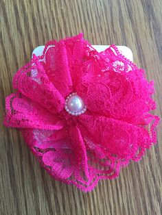 Hot Pink  Vintage Lace Flower Hair Clip, Hair Accessories, Girls, Toddler, baby, Easter,Spring, Photo Prop, Everyday wear, Women, Lace Clip by CottonCandyBows on Etsy