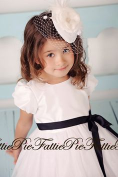 love this outfit for a flower girl ~ White Flower Girl Dress by fattiepie on Etsy, $99.00