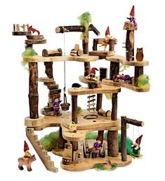 Our tree fort kit is where all of our miniature woodland friends want to live. Tree fort kit is made from real wood so woodland friends will feel right at home. Fort Kit, Baby Unicorn, Wooden Tree, Wooden Diy, Super Saver, Imaginative Play, Wood Toys, Miniature Dolls, Furniture Collection