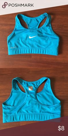Nike pro blue work out bra. Small Good condition worn only 3 times. Nike Other