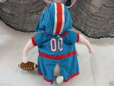 Halloween Dog Costume Football Player With Helmet & Football New With Tags #PeerlessPet
