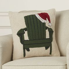 Found+it+at+Wayfair+-+Inglewood+Chair+with+Santa+Hat+Hook+Wool+Throw+Pillow