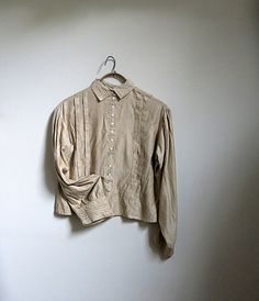 Antique Blouse Embroidered Back Full Long Sleeves by CoconutRoad