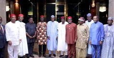 Buhari meets APC Senators after mass defection of lawmakers to PDP