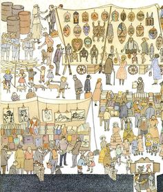 Anno's Flea Market  Mitsumasa Anno - such a genius. What children wish they could see in a glance