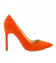 Ivanka Trump Carra Pumps in Orange Suede // Orange heels