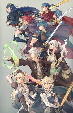 Ge-b, Super Smash Bros., Kamui (Female) (Fire Emblem), Marth, Kamui (Male) (Fire Emblem), Ike