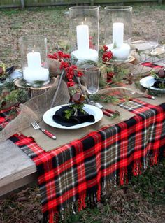 Вдохновение: шотландская клетка в декоре свадьбы