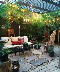 Outdoor sitting area.