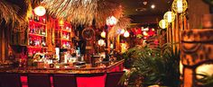 This Tropical Tiki Bar Is A Little Slice Of Hawaii In Toronto featured image Stuff To Do, Things To Do, Toronto Travel, Toronto Life, Hawaii, Tropical, Christmas Tree, Bar, Table Decorations