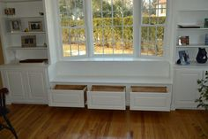 Built in bookshelf with window seat - Google Search