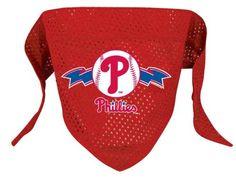 Hunter MFG Philadelphia Phillies MLB Mesh Bandana for Dogs, Small * undefined