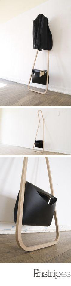 lovely, leaning, bent-wood coat rack. via swissmiss