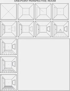 The Useful Art Teacher: Draw a Surreal Space from a Perspective: # . - The useful art teacher: draw a surreal space from a perspective: drew - Perspective Drawing Lessons, Perspective Art, One Point Perspective Room, School Art Projects, Art School, Documents D'art, Classe D'art, Art Handouts, 6th Grade Art