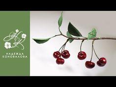 (10) Как сделать ягоды вишни из шелкового и зефирного фоамирана - YouTube