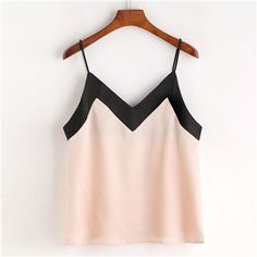 Summer Fresh Solid Lace Sitching Chiffon Women Camis Backless Casual Backless Sleeveless Crop Top Vest Tank Shirt Cami Top Size S Color 1 Cute Tank Tops, Cami Tops, Top Mode, Mode Grunge, Sleeveless Crop Top, Chiffon Shirt, Summer Tops, Summer Fresh, Casual Summer