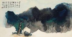 zhang, daqian // scholar beneath mighty tree