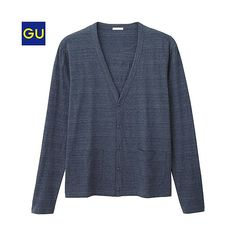 GU(GU)Vネックカーディガン(長袖) - GU ジーユー