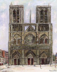 Notre-Dame de Paris, 1929  par  Maurice Utrillo  (1883-1955)