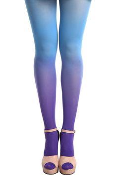 Tie-dyed Velvet Blue Tights