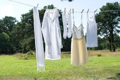 Did You Know? Air drying pieces preserves fabric elasticity & color. It also allows sunlight to act as a natural whitener & disinfectant. #TheLaundress #LaundryTime #LaundressLine