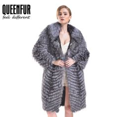 Queenfur Real Silver Fox Fur Coat Winter Genuine Leather Outwear Fur Jacket Hot | Clothing, Shoes & Accessories, Women's Clothing, Coats & Jackets | eBay!