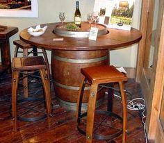 Wine Barrel Table Ideas | Wine Barrel Furniture | 2-Day Designs | www.WineCountry-Accents.com ...